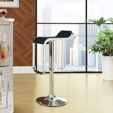 LEM Adjustable Height Swivel Bar Stool with Cushion