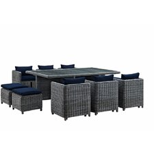 Summon 11 Piece Outdoor Patio Dining Set with Cushion