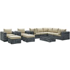 Summon 10 Piece Deep Seating Group with Cushion