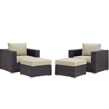 Convene 4 Piece Lounge Chair Set with Cushions
