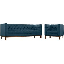 Panache 2 Piece Fabric Living Room Set