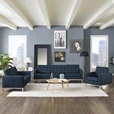 Loft 3 Piece Living Room Set