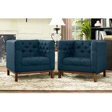 Panache Fabric Living Room Armchair (Set of 2)