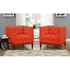 Panache Fabric Living Room Armchair (Set of 2)