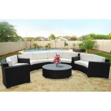 Portico 5 Piece Outdoor Patio Sectional Set