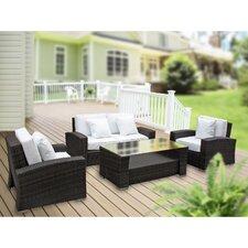 Harmony 4 Piece Outdoor Patio Sofa Set