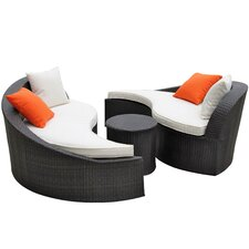 Grace 3 Piece Lounge Seating Group with Cushions