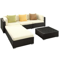 Lambid 5 Piece Deep Seating Group with Cushions