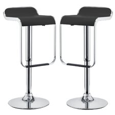 LEM Adjustable Height Swivel Bar Stool (Set of 2)