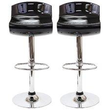 Dazzle Adjustable Height Swivel Bar Stool with Cushion (Set of 2)