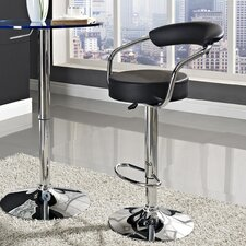 Diner Adjustable Height Swivel Bar Stool with Cushion