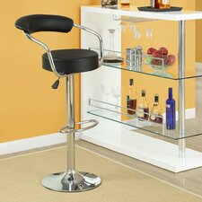 Diner Adjustable Height Swivel Bar Stool with Cushion (Set of 4)