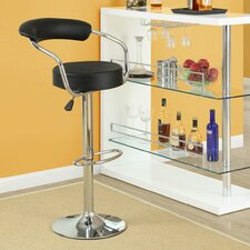 Diner Adjustable Height Swivel Bar Stool with Cushion (Set of 2)