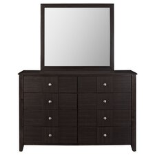 Holly 8 Drawer Dresser Mirror