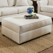 Roberts Linen Ombre Sand Cocktail Ottoman