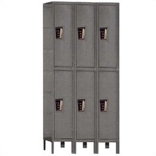 Maintenance-Free 2 Tier 3 Wide Quiet Knock-Down Locker