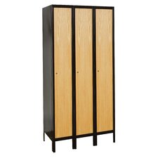 Hybrid 1 Tier 3 Wide Contemporary Locker