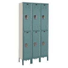 Premium 2 Tier 3 Wide Knock-Down Locker