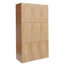 All-Wood Club 3 Tier 3 Wide Locker