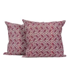 Zigzag Print Throw Pillow (Set of 2)