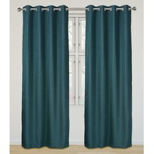 Eclipse  Room Darkening and Insulating Grommet Curtain Panel Set (Set of 2)