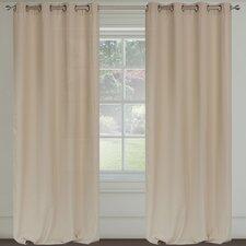 Maestro Faux Linen Grommet Curtain Panels (Set of 2)