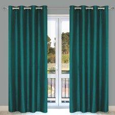 Silkana Faux Silk Grommet Curtain Panel (Set of 2)