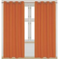 Karma Faux Cotton Grommet Curtain Panels (Set of 2)