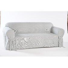 Stripe Twill Loveseat Slipcover