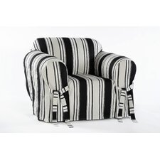 Stripe Duck Armchair Slipcover