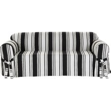 Stripe Duck Loveseat Slipcover