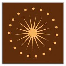 """Folksy Love 4-1/4"""" x 4-1/4"""" Satin Decorative Tile in June Light Orange-Brown"""