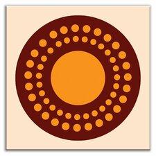 "Folksy Love 4-1/4"" x 4-1/4"" Satin Decorative Tile in Sunshine Orange"