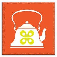 "Kitschy Kitchen 6"" x 6"" Glossy Decorative Tile in Whistler Orange"