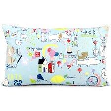 Kid Doodles Reversible Cotton Lumbar Pillow