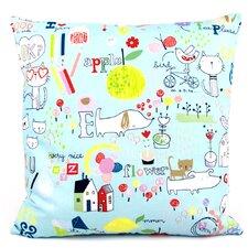 Kid Doodles Reversible Cotton Throw Pillow