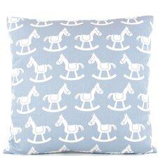 Rocking Horse Reversible Cotton Throw Pillow