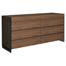 II Vetro 6 Drawer Dresser