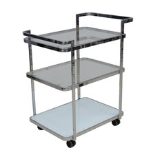 Ferrara Kitchen Cart with Glass Top