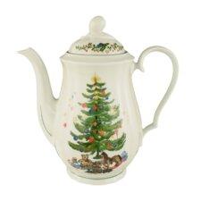 1,35L Kaffeekanne Marie-Luise aus Porzellan in Weihnachten-Dekor