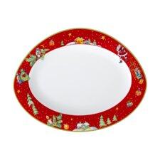 31 cm x 24 cm Platte Trio aus Porzellan in Weiß