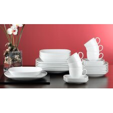 Sketch 30 Piece Porcelain Dinnerware Set