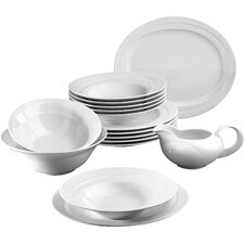 Monaco White 16 Piece Dinnerware Set
