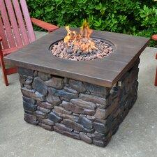 Yosemite II Faux Wood/Stone Propane Fire Pit