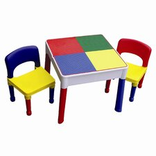 3-tlg. Rechteckiges Kinder Tisch und Stuhl-Set