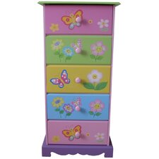 Butterfly Garden 5 Drawer Chest of Drawers