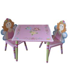 3-tlg. Kinder Tisch und Stuhl-Set Fairy