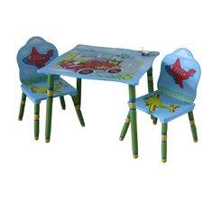 3-tlg. Kinder Tisch und Stuhl-Set Transport