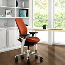 Leap® Fabric Office Chair with Polished Aluminum Frame