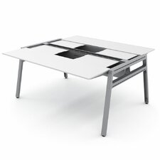 "Bivi 62"" x 60"" Training Table for Two with Back Pockets"